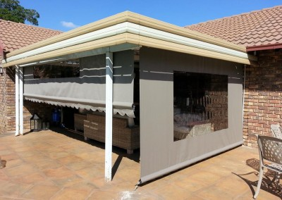 Canvas Gearbox Outdoor Roller Blinds